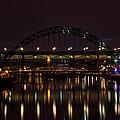Tyne Bridge At Night by David Pringle