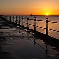 Tynemouth Pier Sunrise by David Pringle