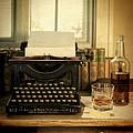 Typewriter And Whiskey by Jill Battaglia