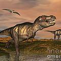 Tyrannosaurus Rex Dinosaurs by Elena Duvernay