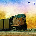 Union Pacific Coal Train by Janette Boyd