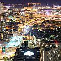 Urban City Night by Songquan Deng