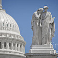 Us Capitol Peace Monument by B Christopher