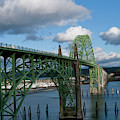 Usa, Oregon, Newport, Us 101 Bridge by Peter Hawkins