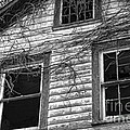 Broken Windows Stare From An Abandoned House by William Kuta