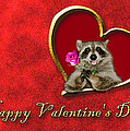 Valentine's Day Raccoon by Jeanette K