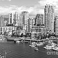 Vancouver Bc Downtown Skyline At False Creek Canada by Bill Cobb