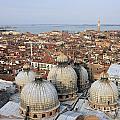 Terracotta Skyline Venice Italy by Julia Gavin