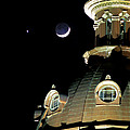 Venus And Crescent Moon-1 by Charles Hite