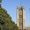 Victoria Tower And The Palace Of Westminster In London England by Robert Preston