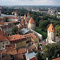 View From Above Of Old Town Tallinn Estonia by Cliff Wassmann