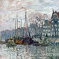 View Of The Prins Hendrikkade And The Kromme Waal In Amsterdam by Claude Monet