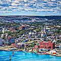 View Of The St. John's Newfoundland From Signal Hill by Perla Copernik