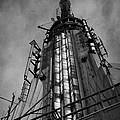 View Of The Top Of The Empire State Building Radio Mast New York City by Joe Fox
