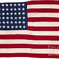 Vintage American Flag by Leslie Banks