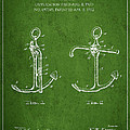 Vintage Anchor Patent Drawing From 1902 by Aged Pixel