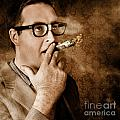 Vintage Business Man Smoking Money In Success by Jorgo Photography - Wall Art Gallery