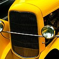 Vintage Car Yellow Detail by Barbara Snyder