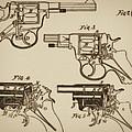 Vintage Colt Revolver Drawing  by Nenad Cerovic