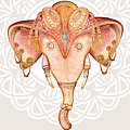 Vintage Elephant Illustration.hand Draw by Polina Lina