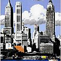 Vintage New York Travel Poster by Jon Neidert