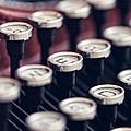 Vintage Typewriter Keys by Leslie Banks