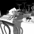 Waiting For Diners Bw by Norman Johnson