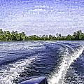 Wake From The Wash Of An Outboard Motor by Ashish Agarwal