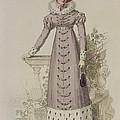 Walking Dress, Fashion Plate by English School