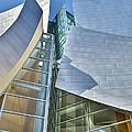 Walt Disney Concert Hall Vertical Los Angeles Ca by David Zanzinger
