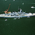 War Ship In New York Harbor, New York by Panoramic Images