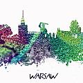 Warsaw City Skyline by Justyna JBJart