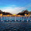 Washington D.c. - Fountains And World by Panoramic Images