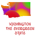 Washington State Map Collection 2 by Andee Design