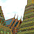 Wat Po In Bangkok-thailand by Ruth Hager