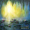 Water Lilies At Sunrise by Jerome Stumphauzer