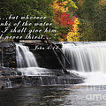 Waterfall With Scripture by Jill Lang