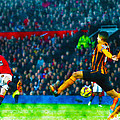 Wayne Rooney Of Manchester United Scores Their Second Goal by Don Kuing