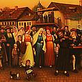 Wedding In Jewish Quarter. by Eduard Gurevich