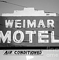 Weimar Motel Sign by Connie Fox