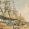 West India Docks From The South East by William Parrot