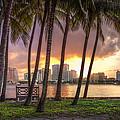 West Palm Beach Skyline by Debra and Dave Vanderlaan