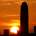 Williams Tower Sunset by Dwight Theall