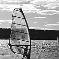 Wind Surfer Bw by Pablo Rosales