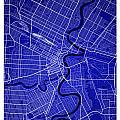 Winnipeg Street Map - Winnipeg Canada Road Map Art On Colored Ba by Jurq Studio