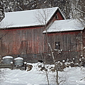 Winter Barn by Bonfire Photography