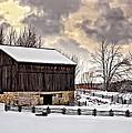 Winter Barn  by Steve Harrington
