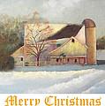 Winter Hush Holiday Card1 by Loretta Luglio
