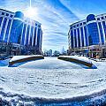 Winter Street Scenes Around Piedmont Town Centre Charlotte Nc by Alex Grichenko