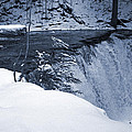 Winter Waterfall Snow by John Stephens